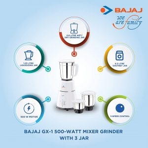 Bajaj Mixer Grinder, GX1
