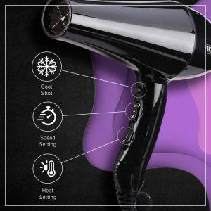 Wahl Super Dry Black Hair Dryer