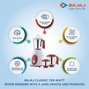 Bajaj Mixer Grinder Classic 750