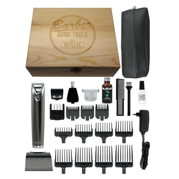Wahl Stainless Steel Lithium-Ion +Advance Wooden Box
