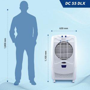 Bajaj DC55 DLX  54-litres Desert Air Cooler (White)